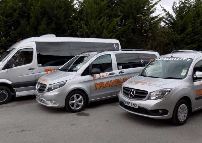 Various Silver Travelbillity Vehicles