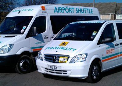 White Travelbillity Fleet